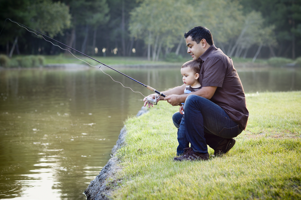 VETERAN FISHING WITH CHILD